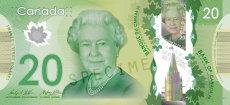 20 Canadian dollar