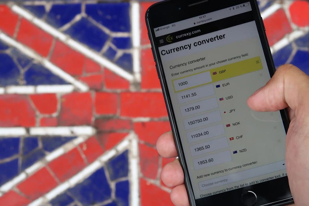 Currency converter in England