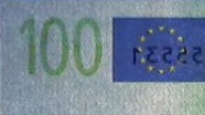 100 eur See-through number