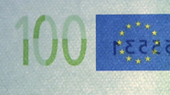 100 eur See-through number changed