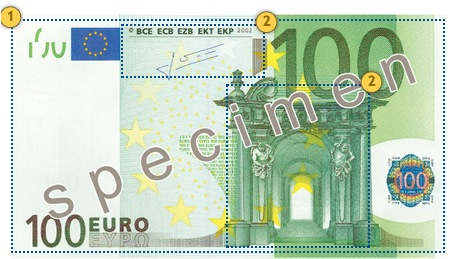 Feel 100 eur, security features
