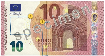 Europa Series €10 banknote. Look.