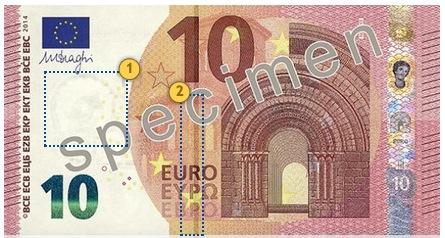 Europa Series €10 banknote. Look.