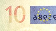10 eur See-through number