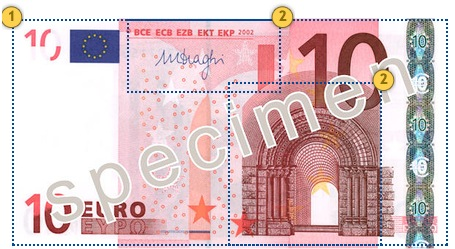 The first series €10 banknote. Feel.