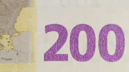 200 eur Colour-changing number