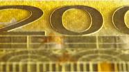 Run your finger across 200 eur number
