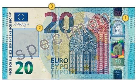 New 20 eur banknote. Look.