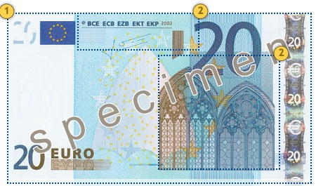 The first series €20 banknote. Feel.