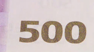 500 eur Colour-changing number changed