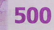 500 eur Colour-changing number