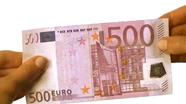Run your finger across 500 eur top right side