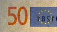 50 eur See-through number