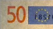 50 eur See-through number