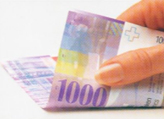 1000 Swiss francs coloured number No. 2