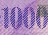 1000 Swiss francs chameleon number