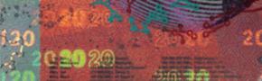 20 new Swiss francs Security strip test