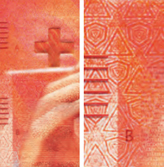 20 new Swiss francs Tactile elements