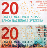 20 new Swiss francs Watermark