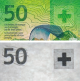 50 new Swiss francs Infrared properties