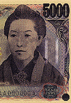 5,000 JPY Watermark-bar-pattern