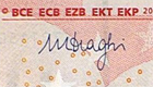 Mario Draghi signature